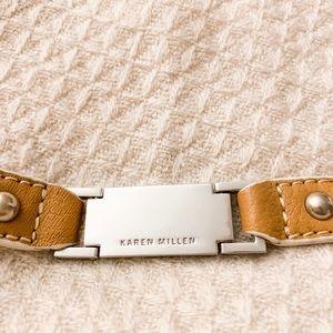 Karen Millen Accessories - Karen Millen leather and silver belt (NWOT)